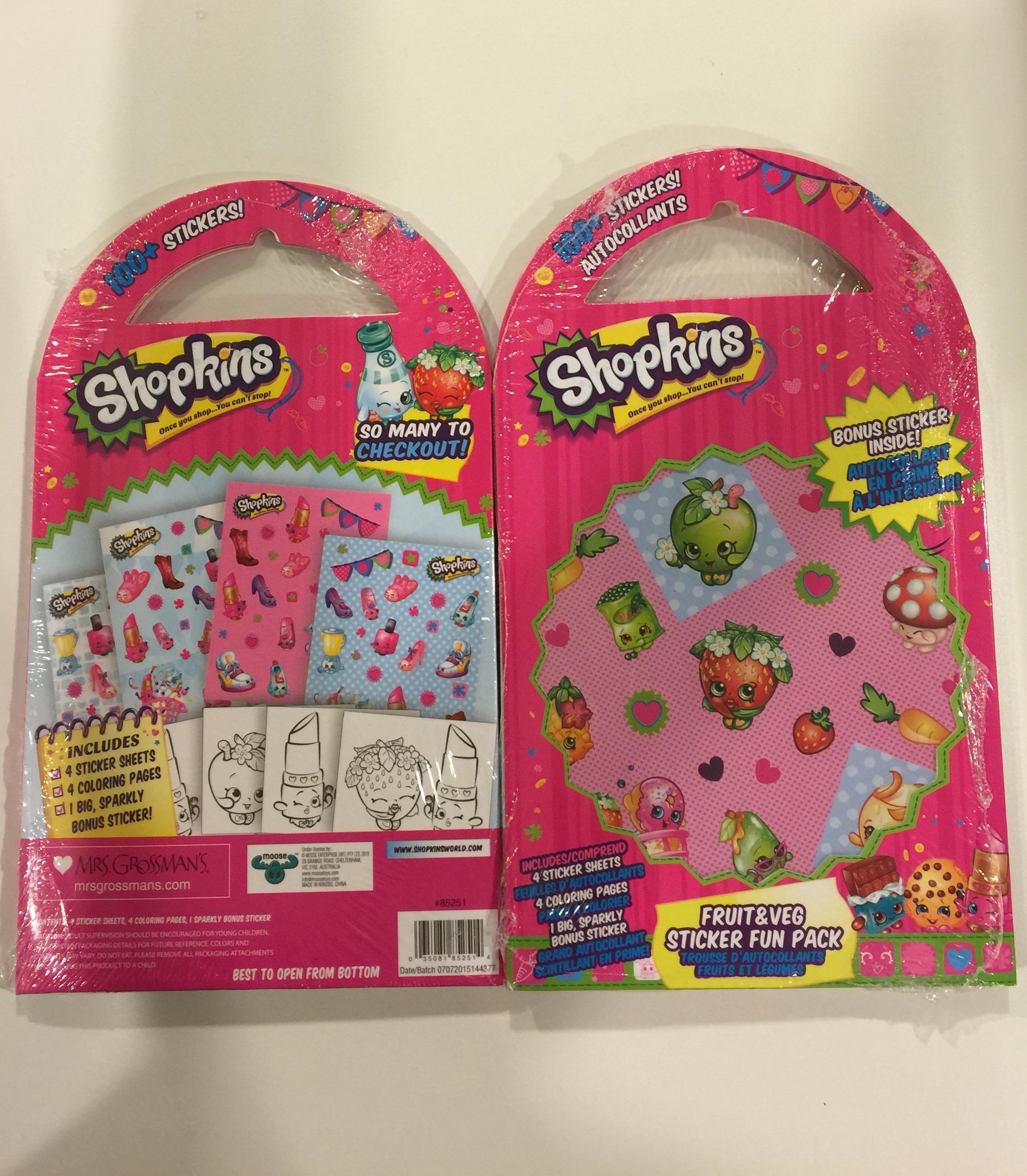 Shopkins Fruit Veg Stickers Coloring Fun Pack