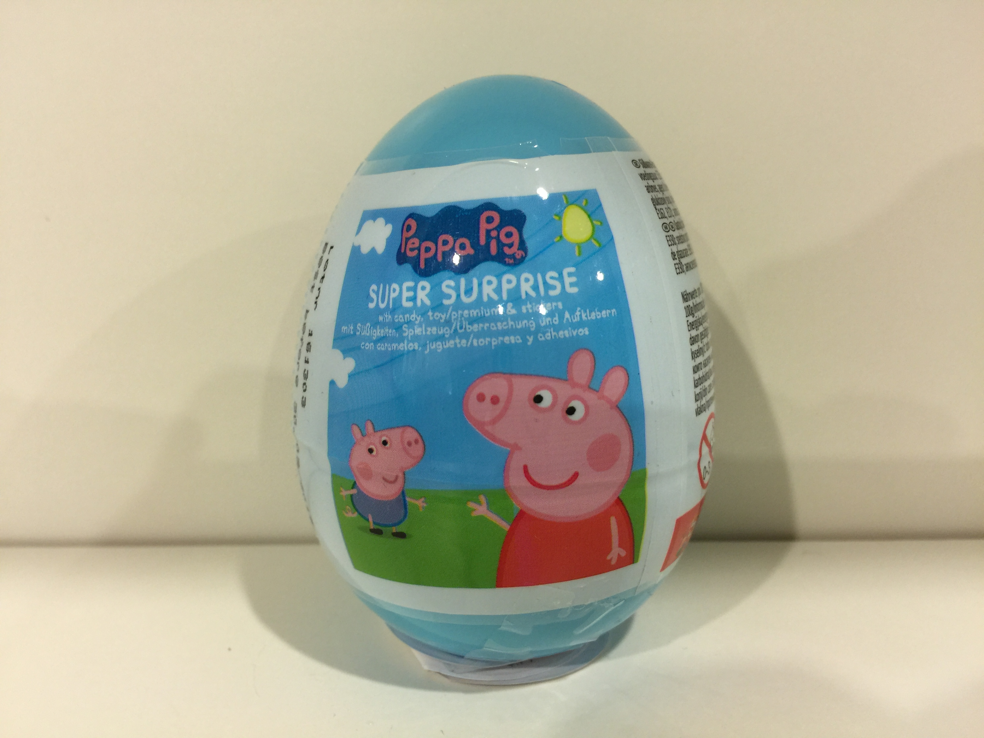 Peppa Pig Plastic Surprise Egg (Candy EXPIRED Only) - Surprise Eggs Malaysia