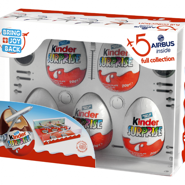 kinder surprise airbus full collection box set surprise. Black Bedroom Furniture Sets. Home Design Ideas